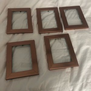 """Other - 4""""x6"""" Rose Gold Picture Frames"""